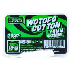 30pcs Wotofo Agleted Organic Cotton (3mm) !
