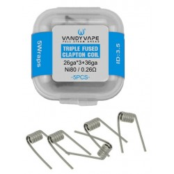 Grzałka Vandy Vape Mato Triple Fused Clapton Coil (5pcs/pack) !