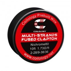 Drut oporowy 10ft Coilology Multi-Strands Fused Clapton Spool Wire 8-.1*.4/36ga(1.15ohm) !