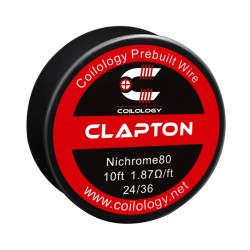 Drut oporowy 10ft Coilology Clapton Spool Wire 24ga/36ga(1.88ohm) !