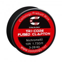 Drut oporowy 10ft Coilology Tri-Core Fused Clapton Spool Wire 3-28ga/40ga(1.73ohm) !
