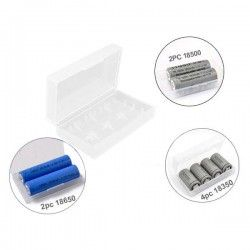 Clear Battery Case for 18650/18350/16340/CR123A Li-ion batteries