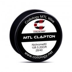 Drut oporowy 10ft Coilology MTL Clapton NI80 Spool Wire 28/40 5.2ohm/ft