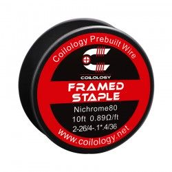 Drut oporowy 10ft Coilology Framed Staple Spool Wire 2-26ga/4-.4*.1/36ga(0.89ohm)